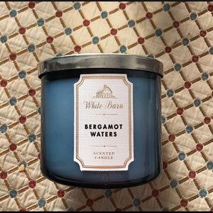 White Barn Bergamot Waters 3 Wick Candle